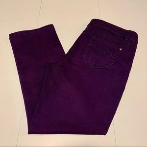 Reitmans Purple Slim Leg Jeans
